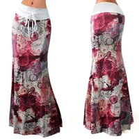 Style Pattern High Wiast Floor Length Slim Skirts Casual Plu...