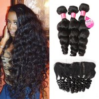 Loose Wave lace frontal closure with 3 bundles Virgin Human ...