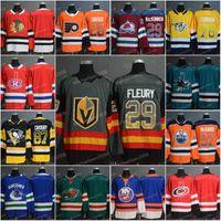 Männer 2019 Neue Zuhause Mode-Druck allmähliche Änderung Jersey 28 Claude Giroux 29 Marc-Andre Fleury 29 Nathan Mackinnon 87 Crosby Hockey-Trikots