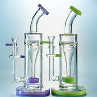 Incycler Recycler Glass Bongs Slitted Donut Perc Water Bongs...