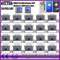 20 1xlot بالجملة 6x18 واط 6in1 rgbwa uv البطارية اللاسلكية dmx led الاسمية الإضاءة uplights مع wifi الهاتف app ل حدث الزفاف ديكور