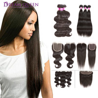 Hot Brazilian Virgin Hair Weave Body Wave Straight 3 Hair Bu...