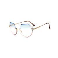 Kalp Çerçevesiz Güneş Gözlüğü Elmas Kesim Güneş Gözlüğü 2018 Yeni erkek Güneş Gözlüğü Metal Kadınlar Gölge Outdorr Gözlük 5530OLO