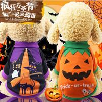 Cão de Estimação do dia das bruxas Camisola Casaco Roupas Outono Quente Defensivo Frio Algodão Cat Dog Knitting Cães Sweatershirt Vestuário