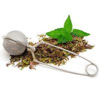 Filtro della sfera del tè della sfera della sfera della sfera di tè con la maniglia lunga del filtro in acciaio inossidabile per le foglie larghe accessori della cucina della polvere della glassa delle foglie larghe