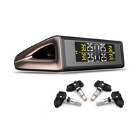 TPMS Солнечная Зарядка Система Контроля Давления в Шинах Автомобильная Сигнализация С 4шт. Внешние и Внутренние Датчики Шины Индикатор Манометр