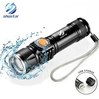 Shustar USB Inside Battery XML- T6 Powerful 2000LM Led Flashl...