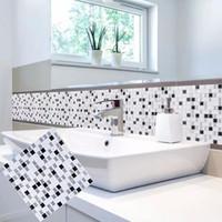 3D Peel Und Stick Removable Self Adhesive Mosaik Stein Fliesen Wand  Aufkleber Aufkleber DIY Küche Bad