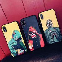 Hot Fashion Cool Men Chark Case для iPhone 11 12 Mini Pro X XS XR MAX 6 6S 7 8 плюс акула Новейшее Высочайшее качество Матовый сотовый телефон аксессуары