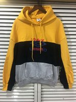 2018 Black gray yellow Splice Vetements DHL Letter pullover ...