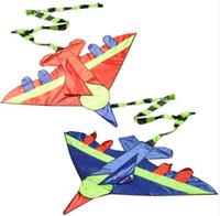 Novedad Niños Volando Cometa Cola larga Aviones de avión Deportes al aire libre Juguetes Cometa Fácil de volar para niños Sin rosca