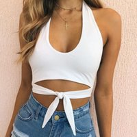 Women Casual Bandage Camis Tank Top Vest Sleeveless Crop Top...