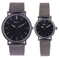 Fashion mens womens alloy watches Black mesh belts watch gen...