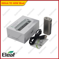 本物のEleaf Ismoka Istick 40W TC Full Kit Istick 40W TC Mod 2600MAH容量温度制御機能100%原文