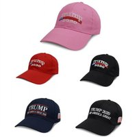 Ricamo Trump 2020 Keep America Great Again Donald Trump Berretti da baseball Cappelli Berretti da baseball Adulti Sport Cappello DHL FEDEX gratuito