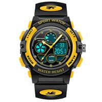 Kinder-Sport-Digital-Uhr, Art- und Junge Mädchen im Freien wasserdichten Uhren Kinder-Analog-Quarz-Armbanduhr-Wecker Kalender Stoppuhr