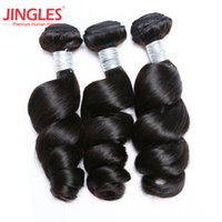 Peruvian Loose Wave human hair extensions 100% unprocessed h...