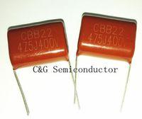 10PCS 400V 475 4.7uF 475J CBB22 Condensador de película de poliéster metalizado Buena calidad ROHS