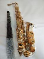 عالية الجودة سوزوكي ألتو ساكسفون اليابانية SZKA-X818GS الموسيقية الفضة مطلي الذهب مفتاح ألتو ساكسفون الترويجية