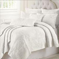 Set copriletto trapuntato in cotone bianco ricamato Set trapuntino regolabile in cotone 225 * 260cm con 2 pezzi Cuscino 50 * 70cm