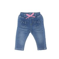 Newborn Baby Girl Clothes Long Jeans Skinny Bow Pocket Pants...