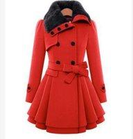 Nouvelle laine bowknot veste Femme longue section coréenne 2018 automne hiver mince petit manteau de laine manteau chaud 2018 mode, plus la taille 4XL chaud