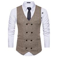 FGKKS Hombres Chaleco de alta calidad de productos de algodón de los hombres Chaleco de traje de diseño de moda de los hombres traje casual de negocios