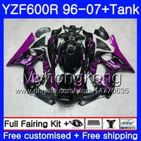 Körper + Tank Für YAMAHA Hot Rose Flammen Thundercat YZF600R 96 97 98 99 00 01 229HM.17 YZF-600R YZF 600R 1996 1997 1998 1999 2000 2001 Verkleidung