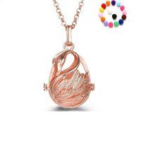 Выдолбленные Лебедь Ароматерапия Диффузор Ожерелье Эфирное Масло Диффузор Ожерелья Ювелирные Изделия Праздничные Подарки 5 Цветов