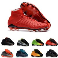 Mens SOCCER CLEATS high ankle FG soccer cleats Hypervenom Ph...