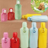 Venta caliente portátil 5 colores botella de agua para mascotas botella de agua para perros de moda hervidor de agua para mascotas T3I0301