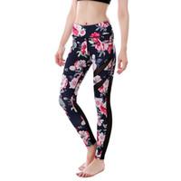 Vente chaude évider imprimée leggings de yoga des femmes pantalons de sport sexy danse d'été leggings de remise en forme mince