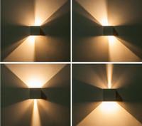 Новые 12W площади Светодиодные настенные светильники IP 65 водонепроницаемый наружного освещения Диммируемый Brief куб Регулируемая Накладные Настенные светильники