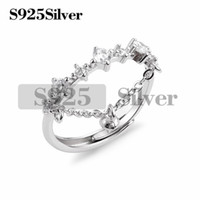 Chain Link Ring Pearl Mounts DIY Jewelry Ring Findings Clear...
