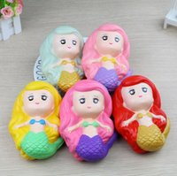 Jumbo Kawaii Squishies Mermaid Squishy Cartoon Scented Bread...