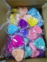 Fabrika satmak kalp şekli silikon makyaj fırça temizleyici Pad yumuşak kozmetik fırça temizleme mat Yüz fırçası Temizleme Yıkama Tampon Aracı Makyaj