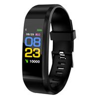 7b133611159d Pantalla a color ID115 Plus Pulsera Inteligente Rastreador de Fitness  Podómetro Reloj Banda Frecuencia Cardíaca Monitor