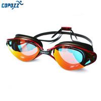 Copozz Yeni Profesyonel Anti-Sis UV Koruma Ayarlanabilir Yüzme Gözlük Erkek Kadın Su Geçirmez silikon gözlük yetişkin Gözlük