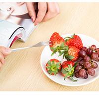4 Stücke Edelstahl Langen Griff Spork für Obst Appetizer Dessert Salat Kochutensilien Camping & Outdoor
