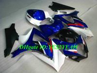 Kit de carenado de motocicleta de alta calidad para SUZUKI GSXR1000 K7 07 08 GSXR 1000 2007 2008 ABS Nuevo conjunto de carenados azul blanco + Regalos SX18