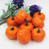16 pcs Halloween Artificial Pumpkin Simulation Fake Lifelike...