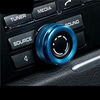 크롬 내부 자동차 에어콘 노브 오디오 장식 원형 반지 포르쉐 마카 카이엔 Panamera 자동차 스타일링 액세서리