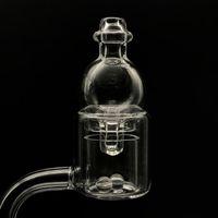 Quarzo termica Bubble Banger Con direzionale di vetro Carb Cap 2pcs Terp Dab Perle Inserti quarzo Banger Nails Per il vetro acqua Bong Dab Rigs