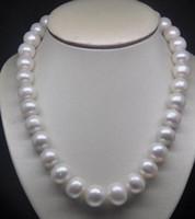 熱い販売19インチ10-11mm秋尾白真珠のネックレス14kゴールドクラスプ