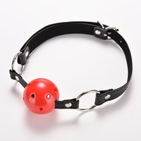 PU Leather Band Ball Mouth Gag Oral Fixation Mouth Stuffed A...