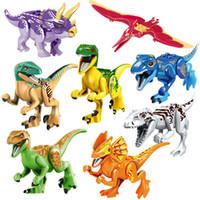 Новая Мода Динозавры из Блоков Головоломки Кирпичи Фигуры Динозавров Строительные Блоки Детские Развивающие Игрушки для Детей Подарочные Детские Игрушки