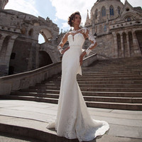 Vestido de Noiva Sereia Renda Berta Mermaid Wedding Dresses ...