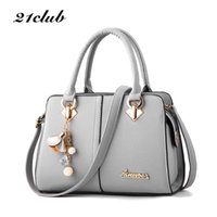 21club brand women hardware ornaments solid totes handbag hi...