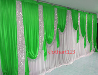 3m*6m wedding backdrop with sequins swags Party Curtain Cele...