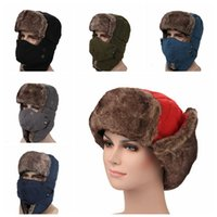 adcecda17415f Wholesale black russian hat for sale - 6 Colors Solid Winter Trapper Hats  with Ear Flaps